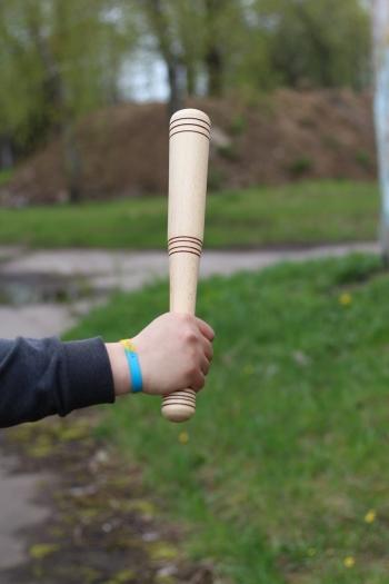 Бейсбольная бита деревянная 40 см